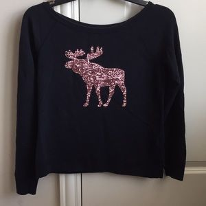 A&F Girls Sequined Sweater Sz: L